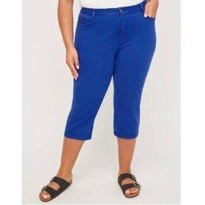 Catherines The Universal Jean Blue Capri Pants 32W